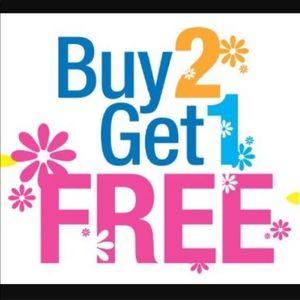 Buy 2 Get 1 FREE SALE!!